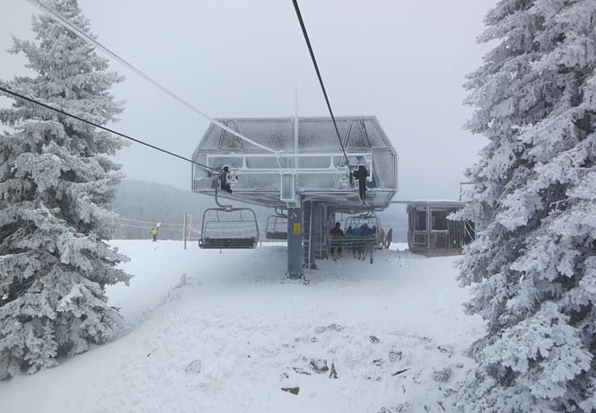 Kid's mountain this morning and good snow