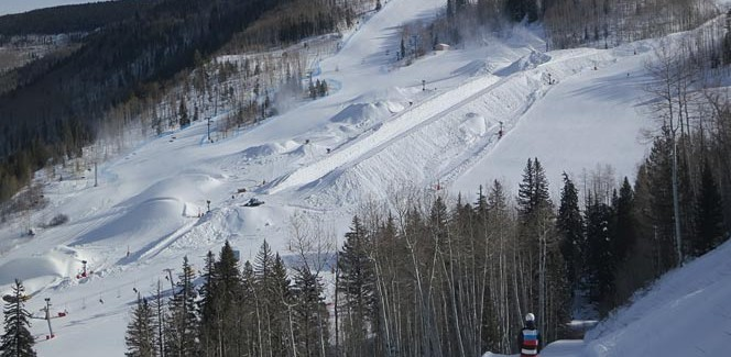 Snowmaking for the Burton US Open Snowboarding Championships