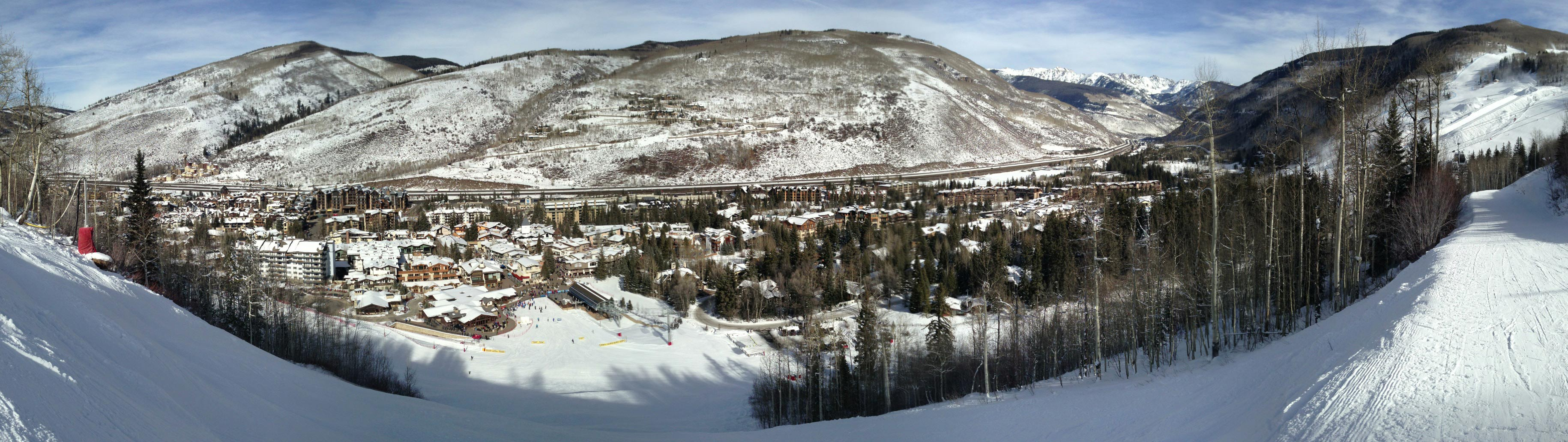 Base Vail Ski Mountain Panoramic