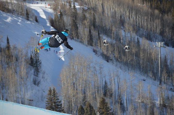 Halfpipe competition Vail