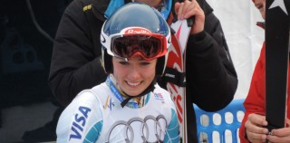 Mikaela Shiffrin after her run