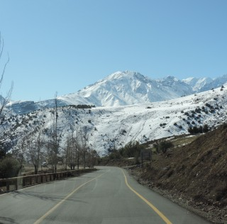 Chili Ski areas Andes Mountans